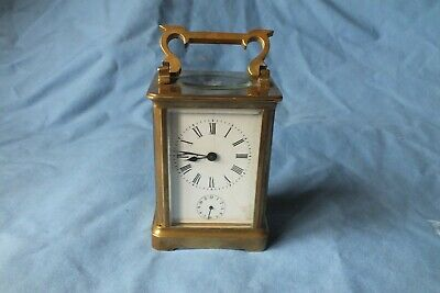 Antique French Carriage Clock With Alarm Working
