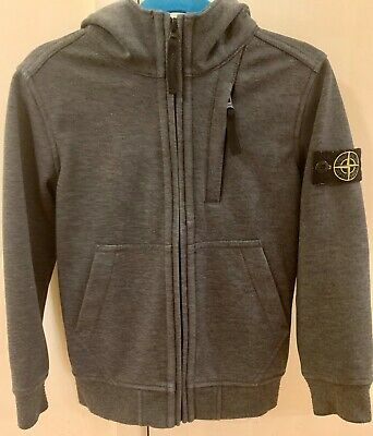 Stone Island Junior Authentic Boys Kids Grey Hoody Sweater Age 6 Years In VGC