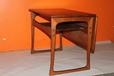 Vintage Mid Century DANISH Teak Table with Sliding Expandable Leaf