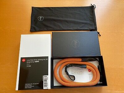 Leica Rope Strap, designed by COOPH Glowing Red 100cm. Used Excellent Condition.