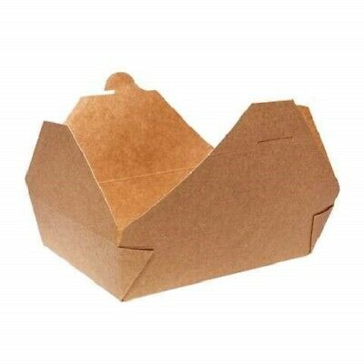 Cardboard leak proof Brown Kraft Microwaveable Takeout Food Containers