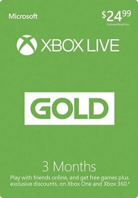 Xbox Live Gold 3 Month Digital Code