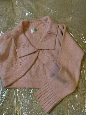 Girls pink knitted shrug ex marks and spencers age 10-11 Brand new with label