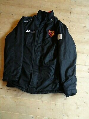 Official Watford FC Football Club Bench Warm Up Coat Joma Adult XS