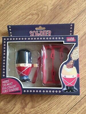 BNIB Soldier Egg Cup & Toast Cutter gift idea xmas quirky