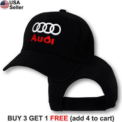 Audi Logo Cap Sport Quattro Hat TT R8 A3 S3 A4 S4 A5 S5 RS5 A7 RS7 Q3 Q5