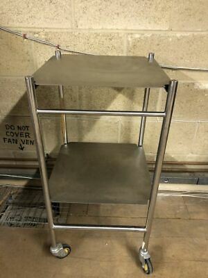 Trolley Stainless Steel 450 x450mm 2 Shelves Bristol Maid