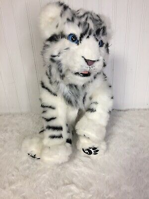 "Wowwee White Siberian Interactive Tiger 15"" Works"