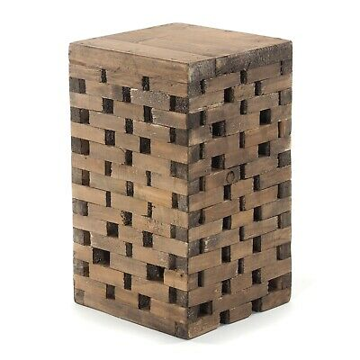 WOODEN STOOL BRICKS | recycled wood, 48x28x27,5cm(HxWxD) | side table, footstool