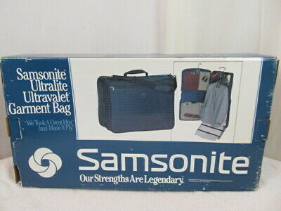 Samsonite UltraLite Ultravalet Garment Suit Travel Bag Carry-On Black Bag NIB