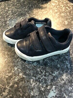 Clarks Boys Shoes Size 5G Blue Leather RRP £35