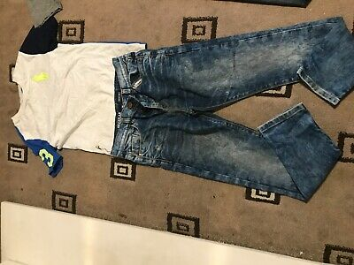 Boys 2 piece set jeans and top bundle next river island 11/12 years Ralph polo