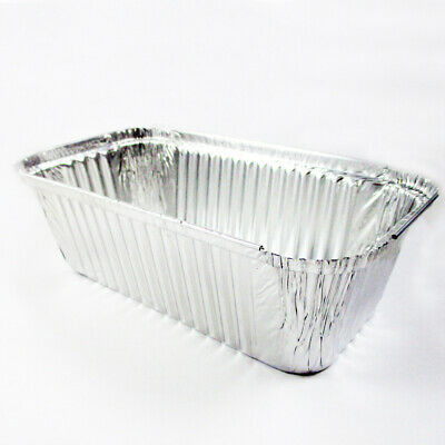 50 Pack 3 Lb Aluminum Foil Loaf Pan Disposable Bread Container Baking Loafbread