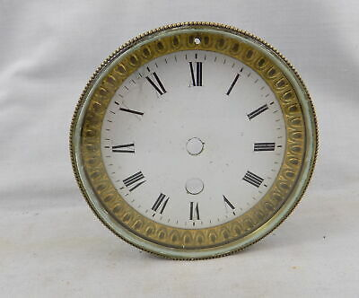 Antique French Clock Enamel Dial, Surround, Bezel & Glass