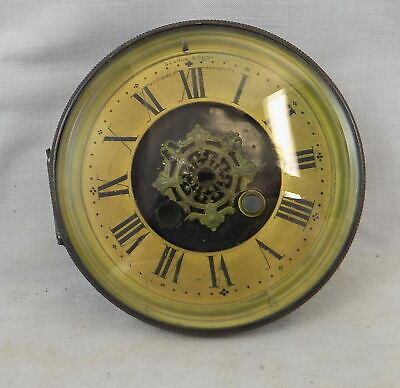 Antique French Clock Dial, Surround, Bezel & Glass - Searle, Plymouth