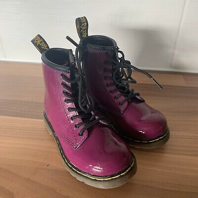 Girls Purple  doc martens boots Size 8