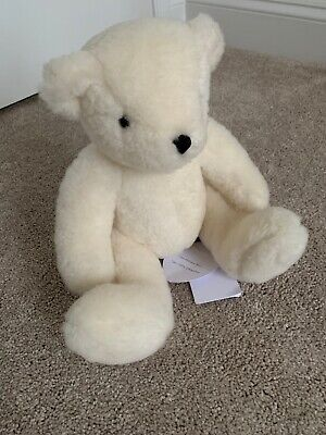 THE LITTLE WHITE COMPANY ' I am William' Teddy Bear. 100% sheepskin. NWT