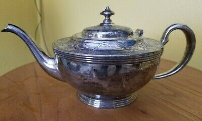 Antique Silverplate made by Forbes Silver Co. T Teapot Genie Lamp ?