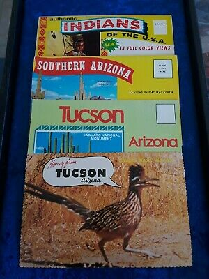 Vintage Grouping of Southwestern Fold Out Postcards & 1 Single Card