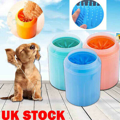 Portable Dog Cat Pet Paw Plunger Mud Cleaner Soft Silicone Brush Foot Clean Cup