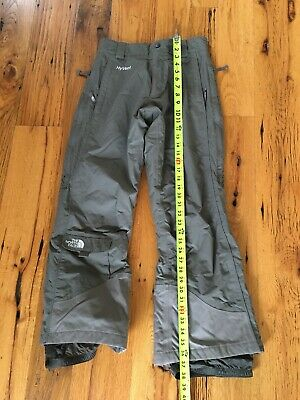 Womens Hyvent Northface Ski Pants Small Grey Khaki 37 Inches Long, Lined