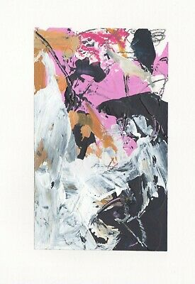 Contemporary original artwork abstract expressive painting signed by artist