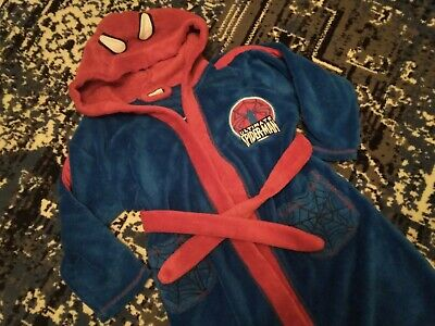 Spiderman boys dressing-gown 4-5 years used
