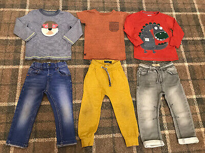 Boys Next Clothes Outfits Bundle 2-3 Years Jeans Joggers Tops
