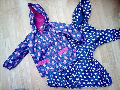 Girls Coat Bundle Age 2-4 years Excellent Condition Hello Kitty Peppa Pig