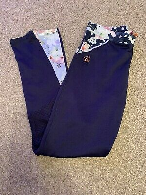 Girls Ted Baker Leggings Sports Ware Active Ware 9-10 Years Blue Blossom