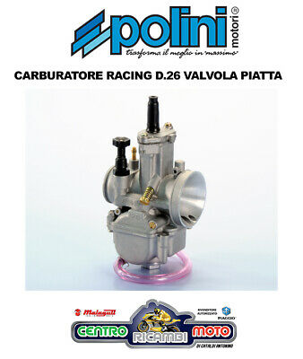 Carburateur Polini Racing Pwk Vanne Plate 26 Universel Moto Scooter