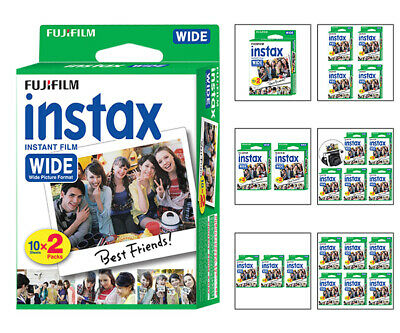 Fujifilm Instax Wide Fuji Instant Film Sheets for Wide 300 & 210 Instant Cameras