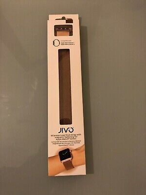 Jivo Milanese Loop Strap For Apple Watch 42mm - Series 1, 3 Magnetic - Rose Gold