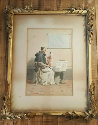 ERNESTO TORINI - WATERCOLOR - Signed/Framed - 19th or Early 20th Century