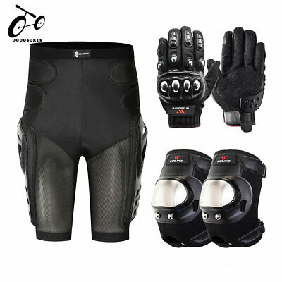 Motorcycle Hip Protection Shorts Protector Bike Knee Pads Guards Gloves Armor
