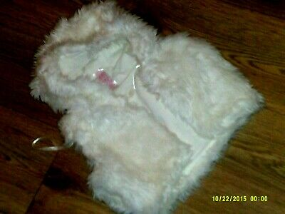 e-vie angel  girls age 4-5 years faux fur hooded gillet