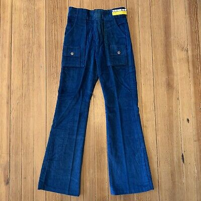 NOS True 1970s Vintage Kid's Bell Bottom Pants Corduroy Flare Child's sz 12