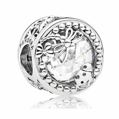 Authentic Pandora Enchanted Nature Clear CZ  797047CZ Charm new with gift box
