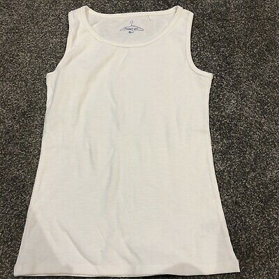 Next Girls Cotton Ivory Sleeveless Vest Top Brand New Age 11 Years