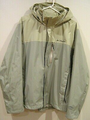 Mens XL Columbia Omni-Tech Waterproof Breathable Packable Nylon Jacket USED ONCE