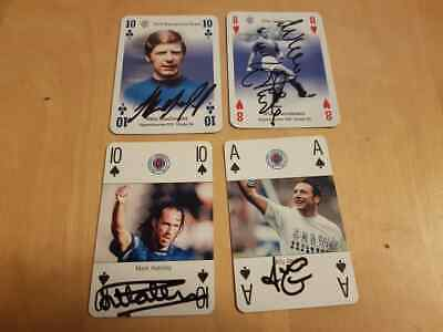 Job Lot Of Signed Rangers Fc Legends Playing Cards Mccoist Hateley Henderson ++