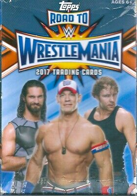 2017 wwe road to wrestlemania 42 trading cards hanger box