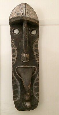 PNG mask Papua New Guinea carved wood tribal mask