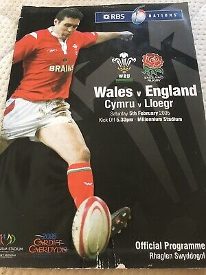 Wales V England 2005 Rugby Union Programme