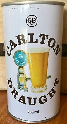Carlton Draught. 750ml. Straight Steel. Beer Can.