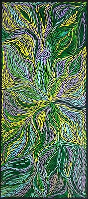 JEANNIE PETYARRE, Authentic Aboriginal Art. Size 105 x 45cm  beautiful work