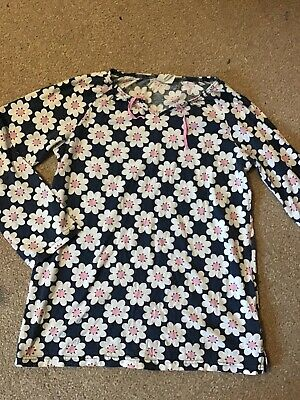 MINI BODEN girls blue flowers tunic top - age 13-14