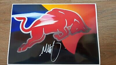 MAX VERSTAPPEN HAND SIGNED 12x8  PICTURE RED BULL RACING FORMULA ONE DRIVER