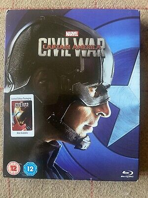 Captain America - Civil War (Marvel Blu-Ray, 2016) *New & Sealed With Slipcover*
