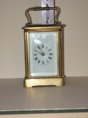 Very large brass cased carriage clock